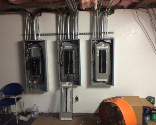 Power Panel Installation at the Cinelux Theatres in Capitola, CA. by Adapt Technology in, Sacramento CA. 95825